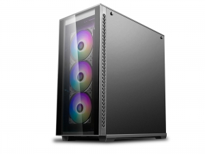 "CARCASA DeepCool Middle-Tower E-ATX,  3x 120mm CF120 fans, header RGB ADD, RGB LED strip, tempered glass, front audio & 2x USB 3.0, 2x USB 2.0, black ""MATREXX 70 ADD-RGB 3F""3"