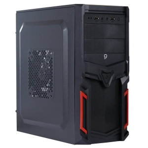 "CARCASA SPACER  Mini-Tower ATX, fara sursa, Pr1m3, 1*80mm & 1* 120mm fan instalate, I/O panel, Black&Red ""SP-GC-03""1"
