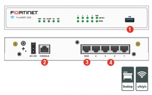 Firewall Fortinet FortiGate-30E - Hardware plus 1 Year 8×5 FortiCare and FortiGuard UTM Bundle - FG-30E-BDL1