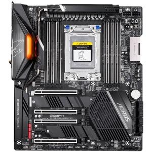 GIGABYTE Main Board Desktop AMD AORUS MASTER TRX4 (8xDDR4, Realtek ALC1220, 2xIntel® GbE LAN chip, 2xPCIEX16, 2xPCIEX8, 1xPCIEX1, 3x M.2, 8xSATA 6Gb/s, RAID 0,1,10,1x USB Type-C, 2xUSB 3.2 Gen1, 2xUSB1