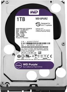 """HDD  1TB PURPLE  64MB S-ATA3 """"1PURZ"""" WD SURVEILLANCE """"WD10PURZ""""1"""