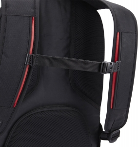 """RUCSAC CASE LOGIC notebook 15.6"""", poliester, 2 compartimente, buzunar interior tableta, buzunar frontal, 4 buzunare laterale, orificiu acces casti, buzunar dorsal ascuns, black, """"BEBP215"""" 32016737"""