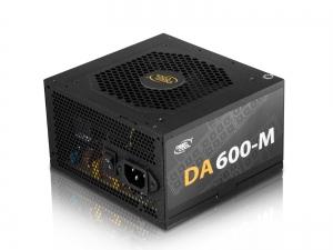 """SURSA DeepCool 600W (real), modulara, fan 120mm PWM, 80 PLUS & max 85% eficienta, 2x PCI-E (6+2), 5x S-ATA """"DA600-M""""0"""