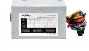 "SURSA LogiStep 450, 250W pt. 450W desktop PC, Gaming PSU 450, 120mm fan, 1x PCI-E (6), 4x S-ATA ""LS-GP-450""2"