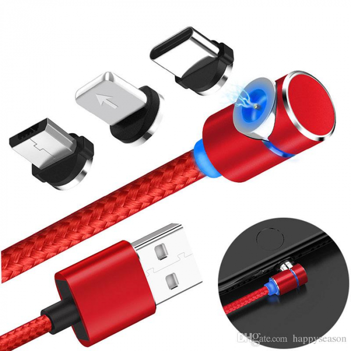 Cablu USB 3 IN 1 LED Magnetic 2