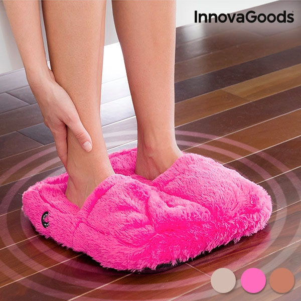 Pufosenii roz pentru masajul picioarelor 0