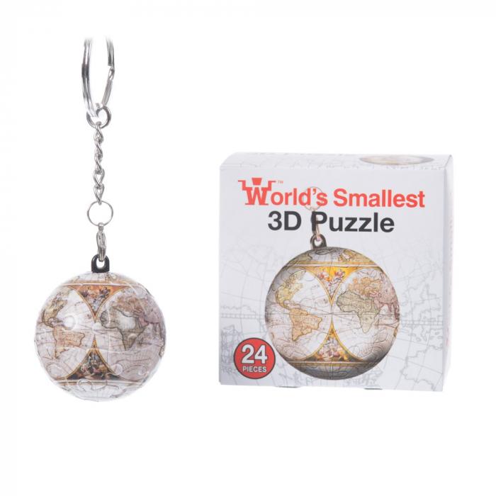 Breloc Puzzle Glob Pamantesc 3D 3