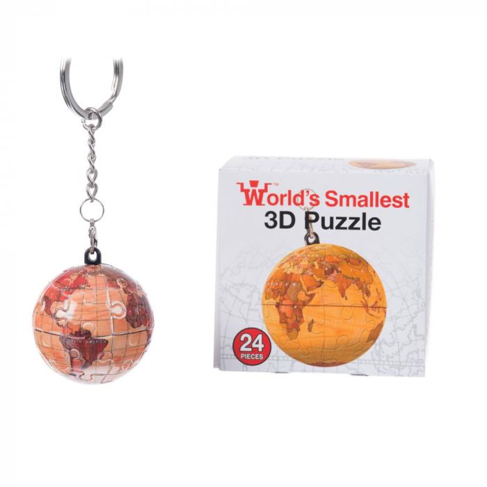 Breloc Puzzle Glob Pamantesc 3D 5