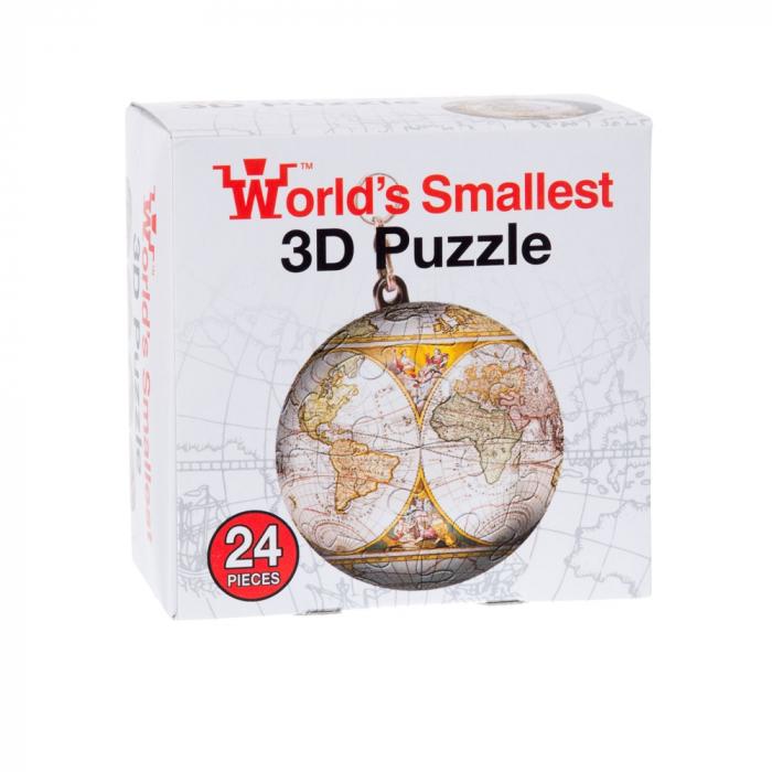 Breloc Puzzle Glob Pamantesc 3D 4
