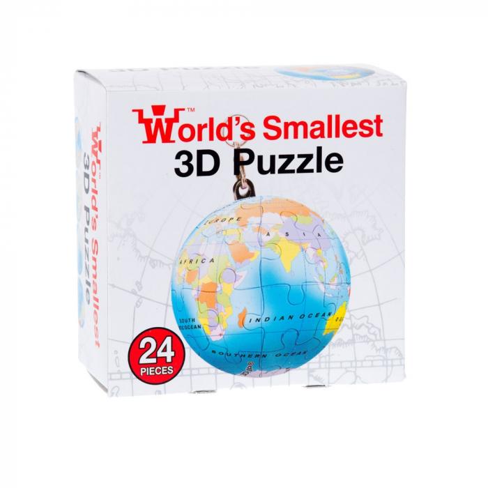 Breloc Puzzle Glob Pamantesc 3D 2