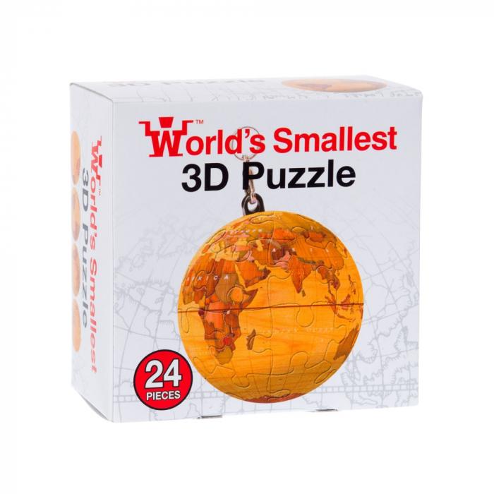 Breloc Puzzle Glob Pamantesc 3D 6