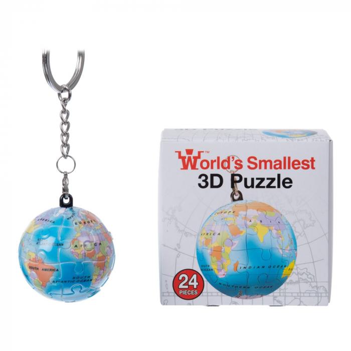 Breloc Puzzle Glob Pamantesc 3D 1