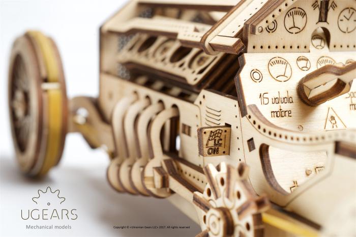 Puzzle mecanic Masina U-9 Grand Prix 4