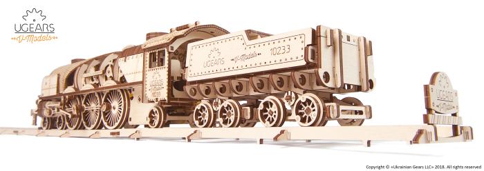 Puzzle mecanic Tren cu aburi 5