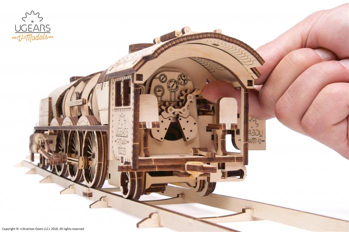 Puzzle mecanic Tren cu aburi 4
