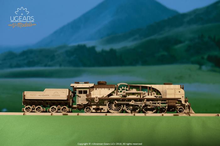 Puzzle mecanic Tren cu aburi 2