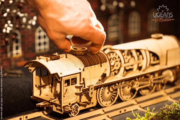 Puzzle mecanic Tren cu aburi 3