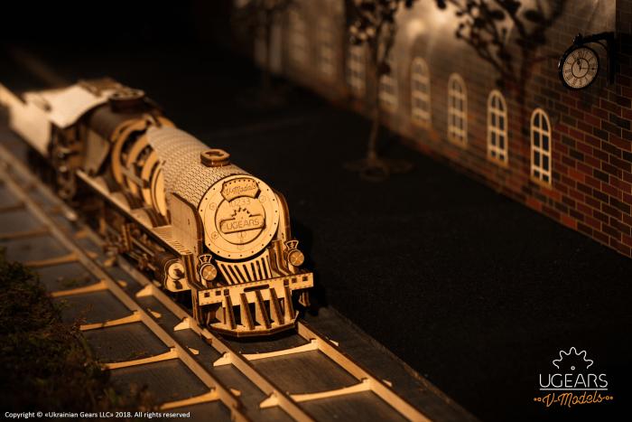 Puzzle mecanic Tren cu aburi 1