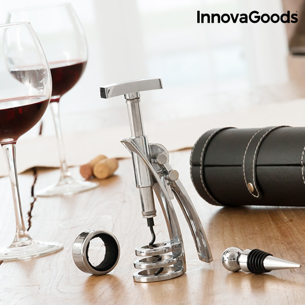 Set de accesorii pentru vin cu tirbuson Screwpull 0