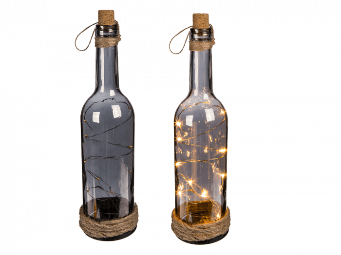 Sticla decor cu LED uri 2