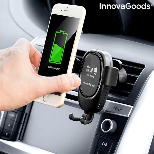 Suport smartphone cu incarcator, fara fir pentru masina 1