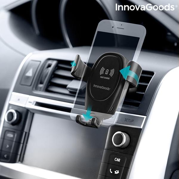 Suport smartphone cu incarcator, fara fir pentru masina 2