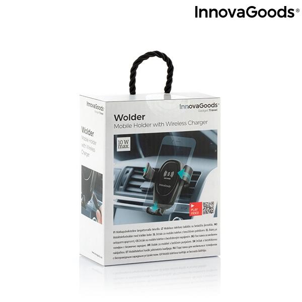 Suport smartphone cu incarcator, fara fir pentru masina 8