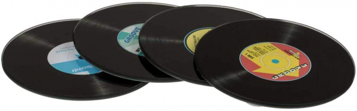 Coasters Vinyl Retro sticla 0