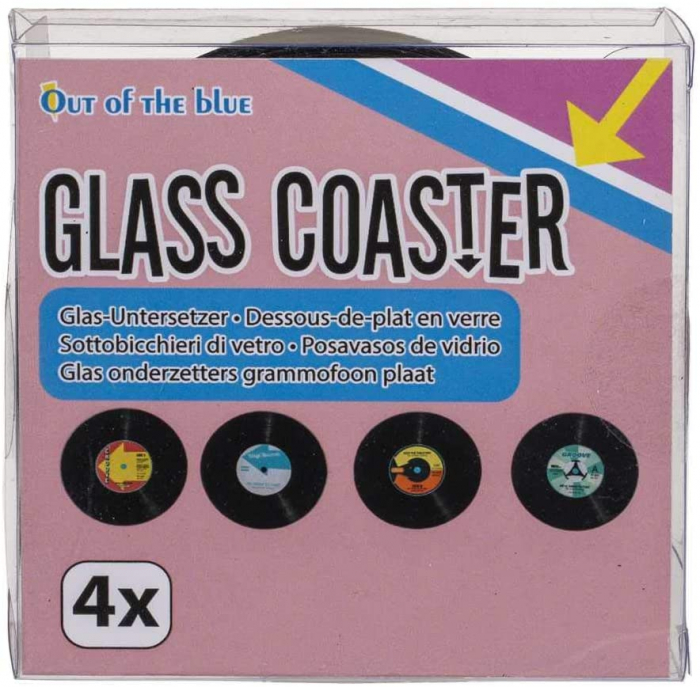 Coasters Vinyl Retro sticla 3