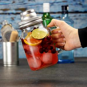 Mason Cocktail Shaker 600ml (4 piese) 4