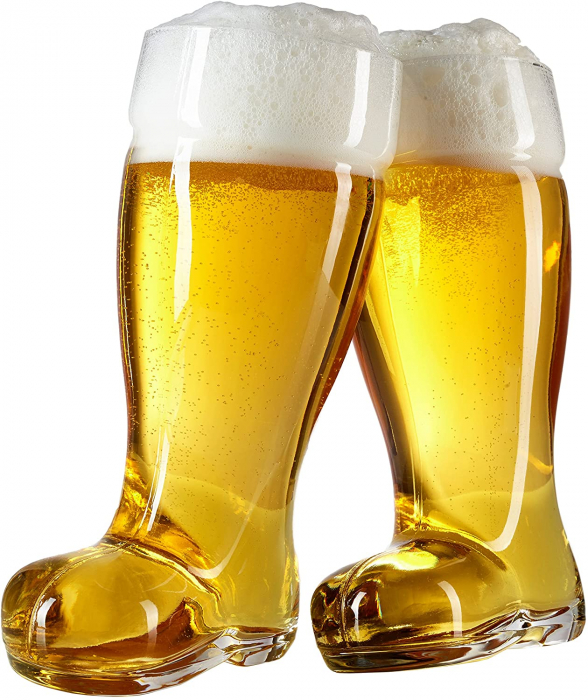 Pahar de bere XXXL in forma de cizma, 2 l 2