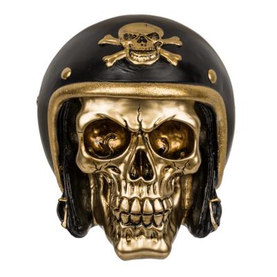 Pusculita craniu motociclist - auriu [0]