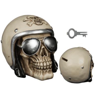 Pusculita craniu motociclist cu casca [1]