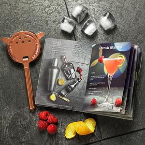 Set cadou Cocktail Manhattan Nights (5 piese) + cartea 100 Retete de cocktail 7