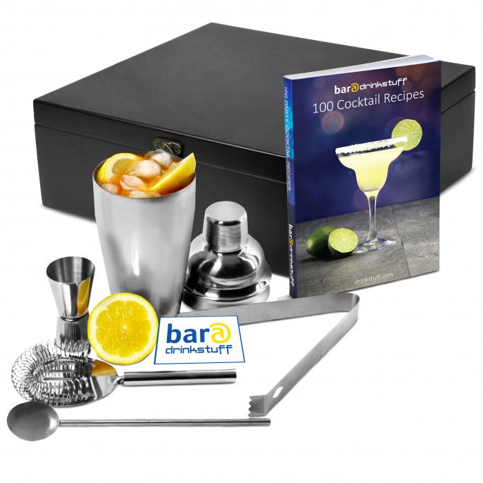Set cadou Cocktail Manhattan Nights (5 piese) + cartea 100 Retete de cocktail 0