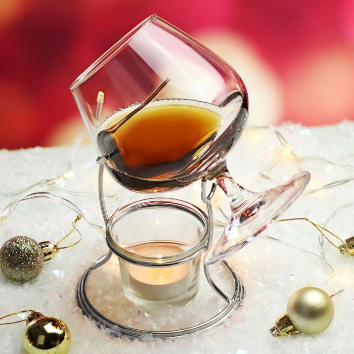 Suport incalzitor cu pahar Cognac [7]