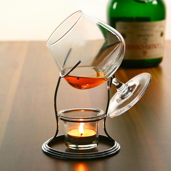 Suport incalzitor cu pahar Cognac [2]