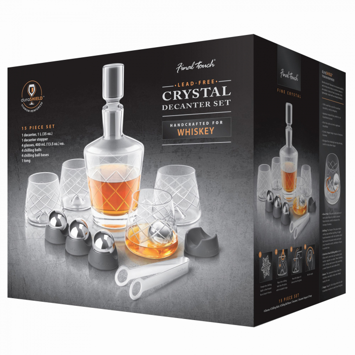 Set decantor Crystal Whiskey 2
