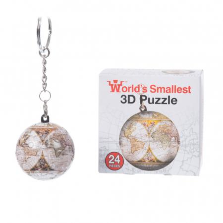 Breloc Puzzle Glob Pamantesc 3D3