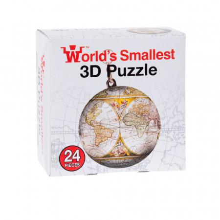 Breloc Puzzle Glob Pamantesc 3D4