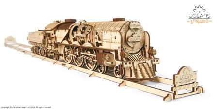 Puzzle mecanic Tren express cu aburi0
