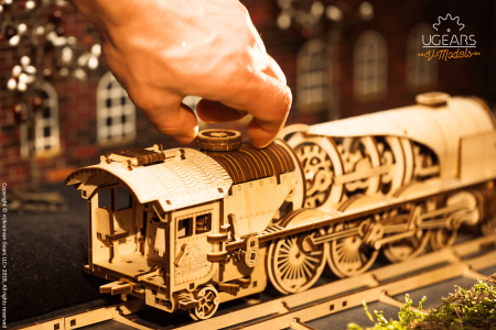 Puzzle mecanic Tren express cu aburi3