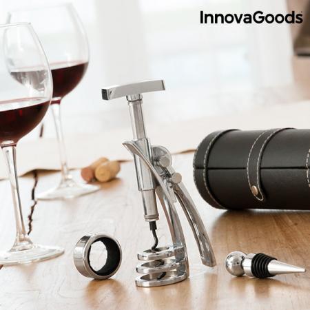 Set de accesorii pentru vin cu tirbuson Screwpull0