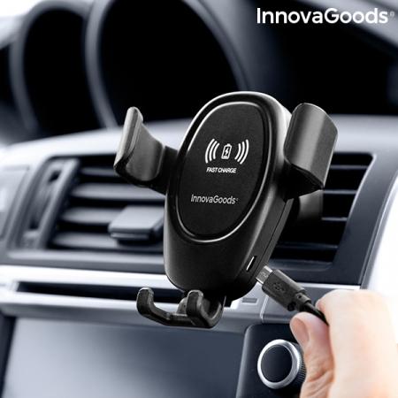 Suport smartphone cu incarcator, fara fir pentru masina3