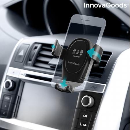 Suport smartphone cu incarcator, fara fir pentru masina2