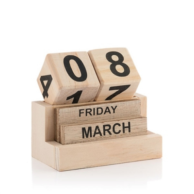 Calendar perpetuu din lemn