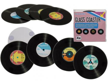 Coasters Vinyl Retro sticla1