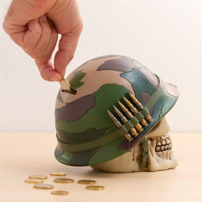 Pusculita craniu de soldat