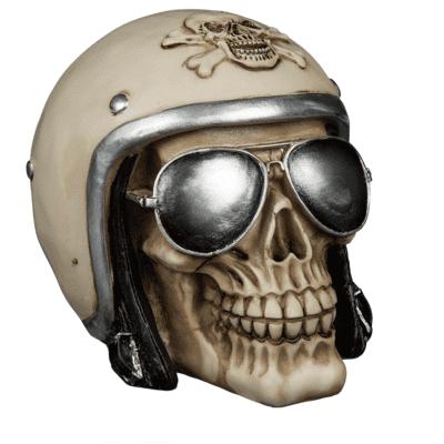 Pusculita craniu motociclist cu casca [0]