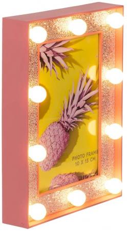 Rama foto cu led- Pink glitter1